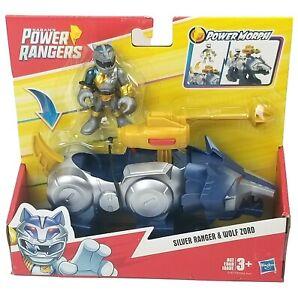 Hasbro Playskool Saben's Power Rangers Silver Ranger Wolf Zord Playset Toy