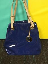 Womens Michael Kors Blue Patent Leather Bag
