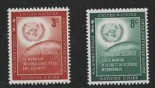 United Nations Scott #Ny 55-56, Singles 1957 Complete Set Fvf Mnh