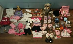 61 Piece Build-A-Bear Lot! - Dolls, Clothes, Accessories, Shoes, Dresses, PJs +