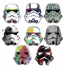 Star Wars 8pc STORMTROOPERS HELMET WALL DECALS Sticker Storm Trooper Decor