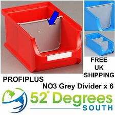 Profiplus Bin Size 3 Plastic Divider - Insert  Partition Stacking Bins x 6