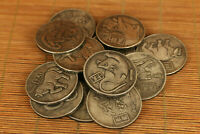 12PCS china old tibet silver carved zodiac animal statue Commemorative COINS