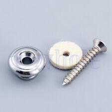 1 Pair Chrome Mushrooms shape Round Head Guitar Strap Buttons Strap Pin EW