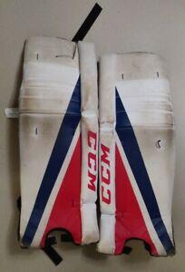 CCM Youth Street Hockey Adjustable Padded Goalie Leg Pads