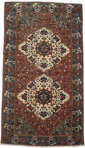 Semi Antique Vintage Floral Design 5'7X10 Farmhouse Rug Oriental Wool Carpet