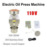110V Stainless Steel Automatic Oil Press Extraction Machine for Peanuts Rapesee