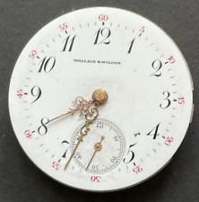 Vintage Longines Wallace B. Wilcox Pocket Watch Movement Parts/Repair 0s Swiss