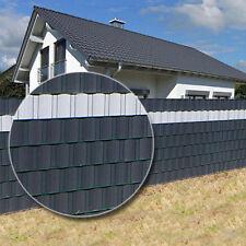 35m anthrazit Sichtschutz Zaunfolie Doppelstabmatten Zaun Sichtschutzstreifen