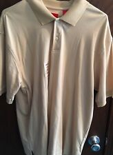 New w/ tags Men's IZOD polo rugby short sleeve shirt- beige