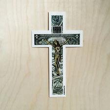 Supreme box logo sticker vinyl decal skateboard laptop cross Jesus dollar USD