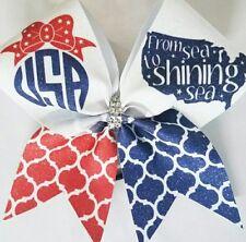 Cheer Bow -  USA Glitter    - Hair  Bows