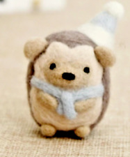 Hedgehog Needle Felting Kit All needed to make your Cute Animal 50x35x35mm C