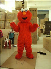 Sesame street elmo Adult Mascot Costume Red Monster Fancy Party Dress Halloween