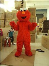 Sesame street elmo Adult Mascot Costume Red Monster Fancy Party Dress Halloween