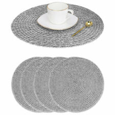 Placemats Set of 4 Woven Vinyl Table Mats Placemats for Kitchen Dining Table