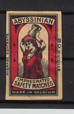 Ancienne étiquette   allumettes  Belgique  A548  Femme Porteuse d'eau 2
