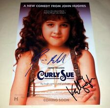 """CURLY SUE CASTX2 PP SIGNED 12""""X8"""" INCH POSTER JAMES BELUSHI"""