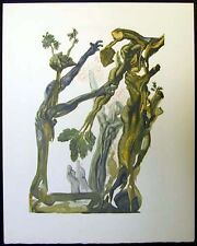 SALVADOR DALI Original Color Woodcut DIVINE COMEDY Comédie c.1960 Wood Suicide