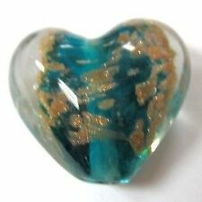 4 pieces Lampwork Heart Glass Beads - 20mm -A3918