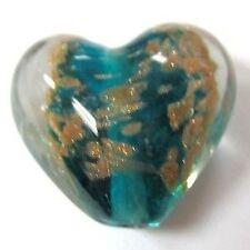 4 pieces Lampwork Heart Glass Beads - 20mm -A3918