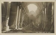 ARGENTINA SAN JUAN INTERIOR DE LA CATEDRAL DESPUES DEL TERREMOTO REAL PHOTO