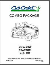 Cub Cadet  Model No. 2185 Manuals COMBO Package