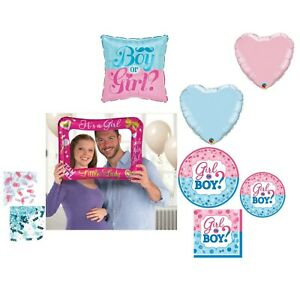 Gender Reveal Girl Party Supplies Baby Shower Plates Napkins Balloon Decorations