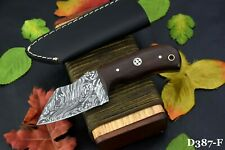 Custom Damascus Steel Miniature Knife Handmade With Walnut Handle (D387-F)