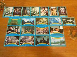20 X JAMES BOND 007 MOONRAKER TRADING CARDS-1979-FREE POST