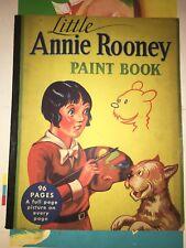"Rare 1935 Little Annie Rooney Paint Book w/ Big Little Book Logo 11 by 14"""