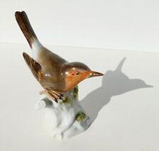 Meissen Porcelain Robin Rotkehlchen Bird Figurine Artist August Ringler 77310