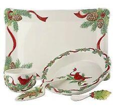 Heartfelt Hospitality Ceramic 5-pc. Platter Serving Set Pie Plate by Valerie NEW