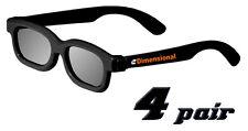 ED Kids 4 Pack DUAL PLAY Cinema LG AG-F310DP + AG-F400DP Compatible 3D Glasses!