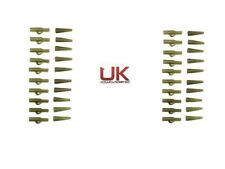 20 x  UKAS Lead Clips + Tail Rubbers Carp Fishing Terminal Tackle Olive/Green