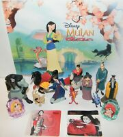 Disney Mulan Movie Figure Set of 14 Toy Kit with 10 Figures, 2 Stickers and More