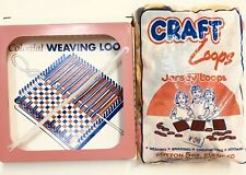 Colonial Weaving Loom Jersey Craft Loops Lot Hot Pad Potholder Hook Crocheting