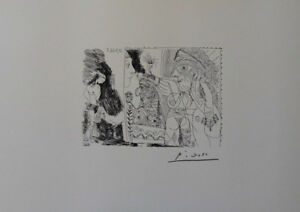 Pablo Picasso(After) - Muse Erotic - Lithography Erotic Signed #1200ex