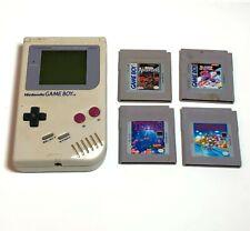 Vintage Original Nintendo Gameboy 4 Games Japan Tetris Mario Hockey PARTS Repair