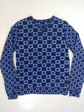 Scotch & Soda Sweatshirt All-over Print Cross Medium Designer hype faded indigo