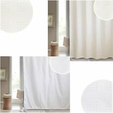 Blue Canyon SOFIA Bath Shower Curtain in White Or Cream 180 x 180 Cm Polyester