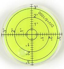 60mm LARGE SPIRIT BUBBLE LEVEL 0 to 3 DEGREE CIRCULAR - MULTI USE - UK SELLER