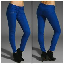 new FREE PEOPLE electric blue MOTO SKINNY JEANS sz 29  NWT $128 zippers