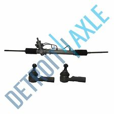 Power Steering Rack and Pinion Assembly & 2 NEW Outer Tie Rod for Corolla Prizm