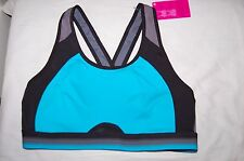 M&S High Impact Sports Bra Infin8 Non Wired Jade Mix Size 34C BNWT