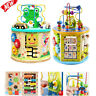 8 In 1 Activity Cube Toy Set Infant Educational Wooden Bead Maze Shape Sorter US
