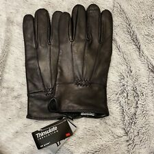 Brand New With Tags - Mens Leather Thinsulate Gloves - Unwanted Gift Large L