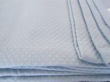 Waffeloptik Tagesdecke Sofadecke Überwurf Wohndecke Decke hellblau 280 x 250 cm