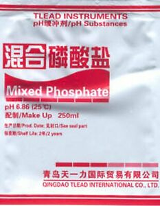 pH Meter Calibration Sachet Buffer Powder 250mL Solution Twin Pack pH4.00 pH6.86