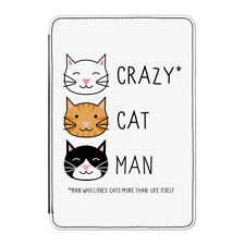 "Crazy Cat Man Case Cover for Kindle 6"" E-reader - Funny Kitten"